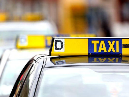 Taxi Drivers Stage A Dublin Demo