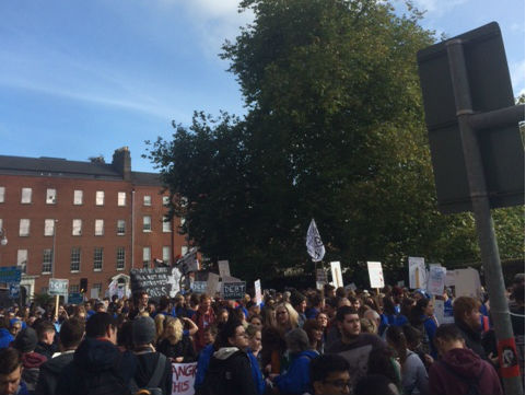 Students Have Marched Through Dublin