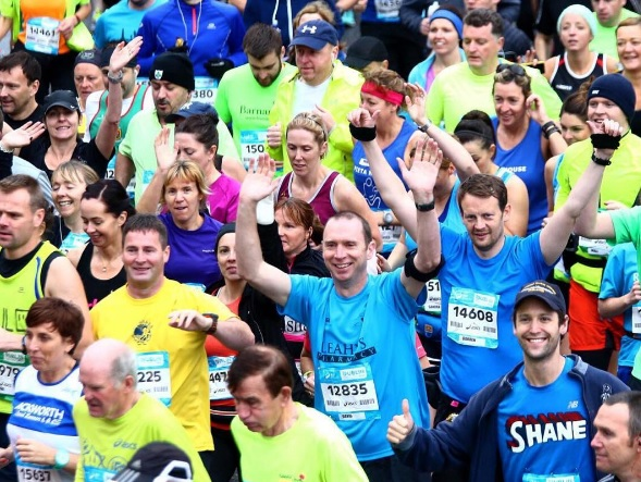 Participants put in last minute prep ahead of the Dublin Marathon