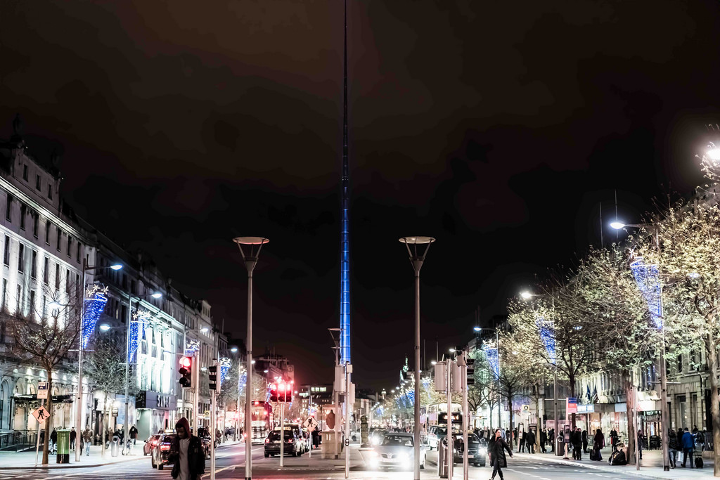 O'Connell Street Christmas lights switched on