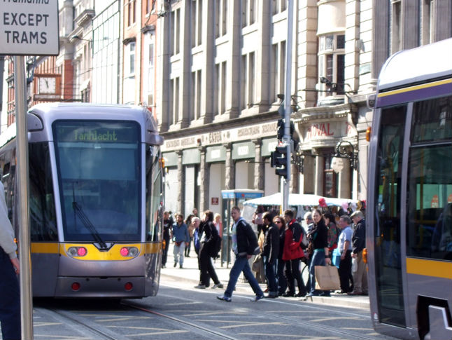 A Car's Collided With A Luas In Dublin