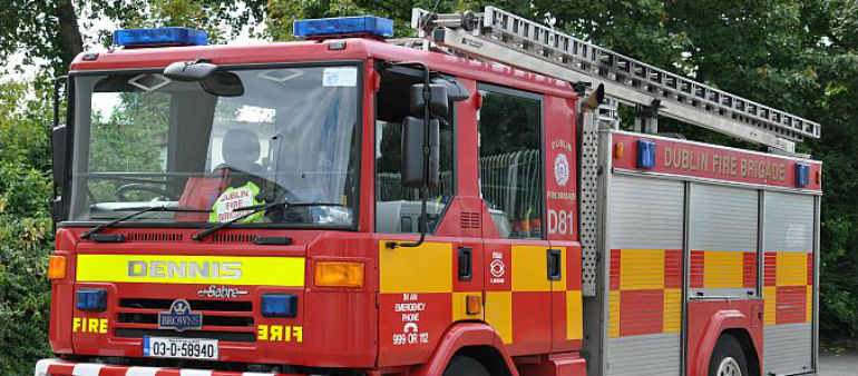 Fire Crew Battle Carrickmines Blaze