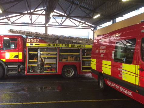 Firefighters Tackle A Fire In Dublin