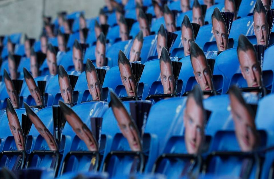 Leicester protest Vardy ban with Thousands of masks