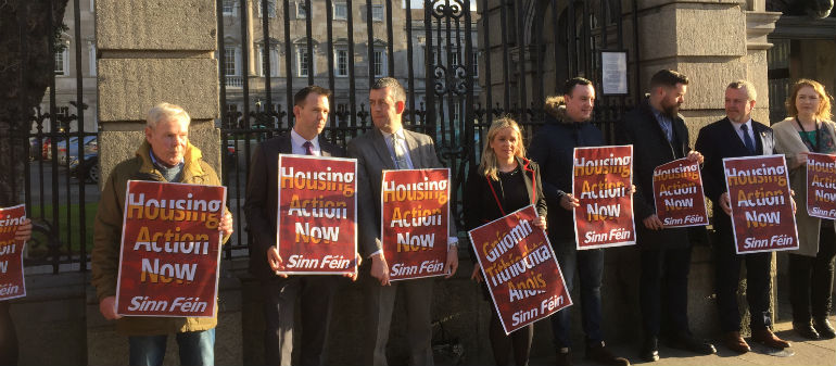 Dail Protest Over Housing Crisis