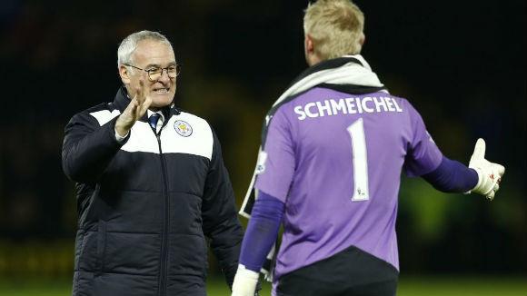Schmeichel plays down rift with Ranieri