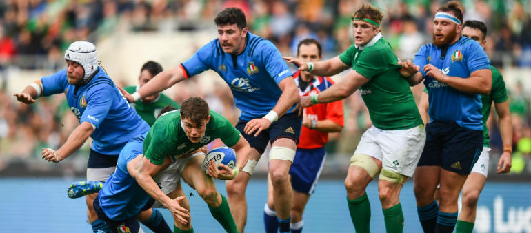 Stander and Gilroy hat-tricks in Rome
