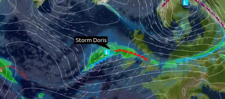 Storm Doris Sweeps In