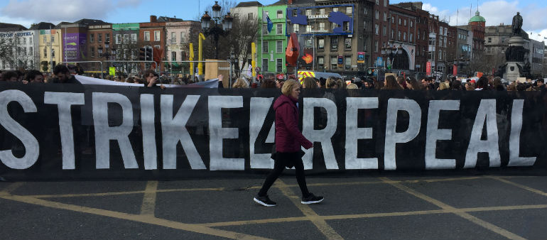 Protesters Call For Abortion Referendum