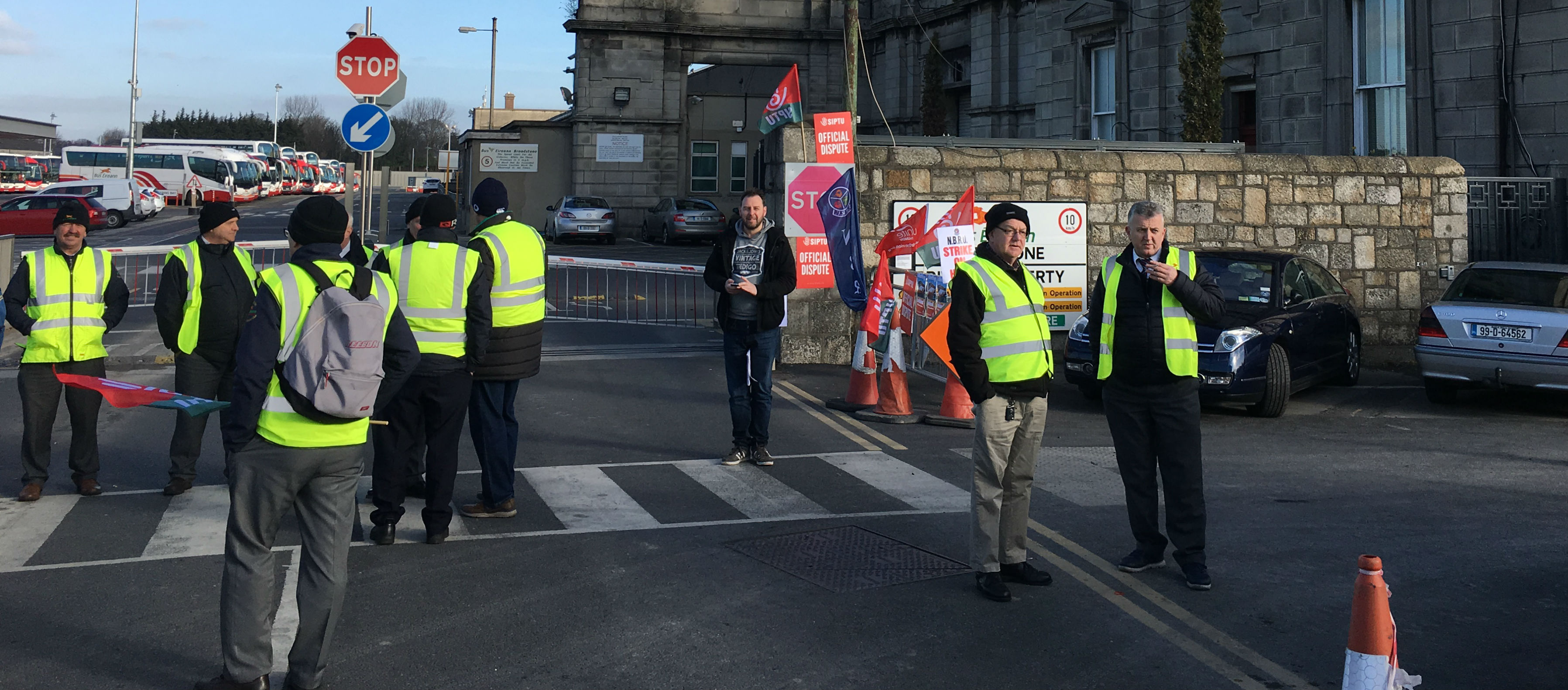 Day Two Of Bus Éireann Strike