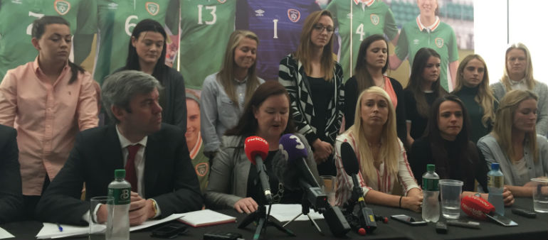 Strike action could be on the cards for Ireland women's soccer team