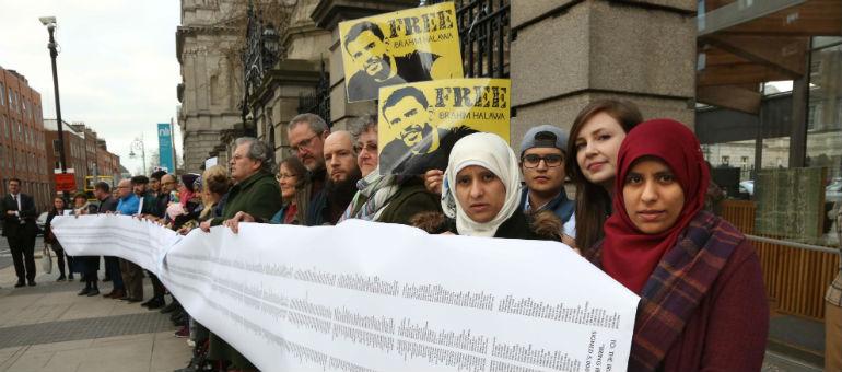 Dail Vigil Is Held For Halawa