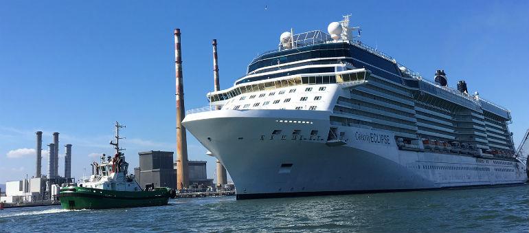 Luxury Liner Docks At Dublin Port
