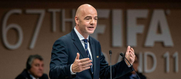 FIFA chief slams 'fake news'