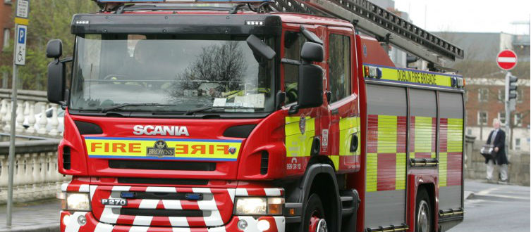 Firefighters Extinguish Firhouse Fire
