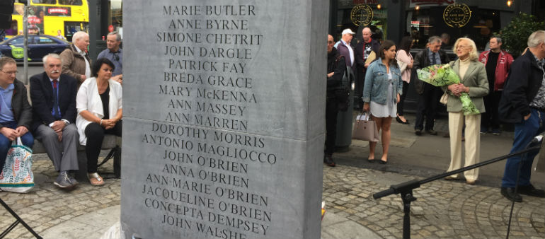 Bombing Anniversary Marked In Dublin