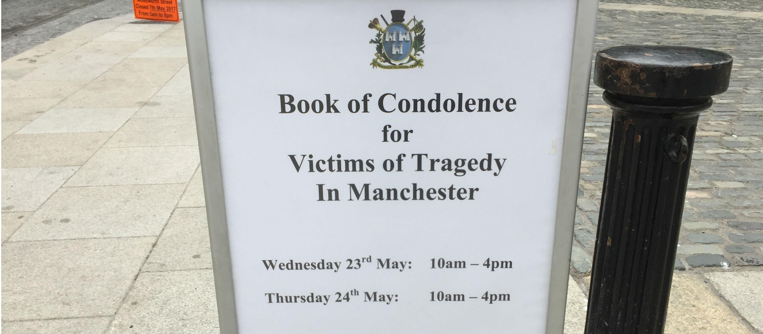 Dublin Opens Book Of Condolence For Manchester