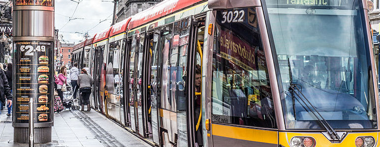 First Tram On O'Connell St Tracks In 68 Years
