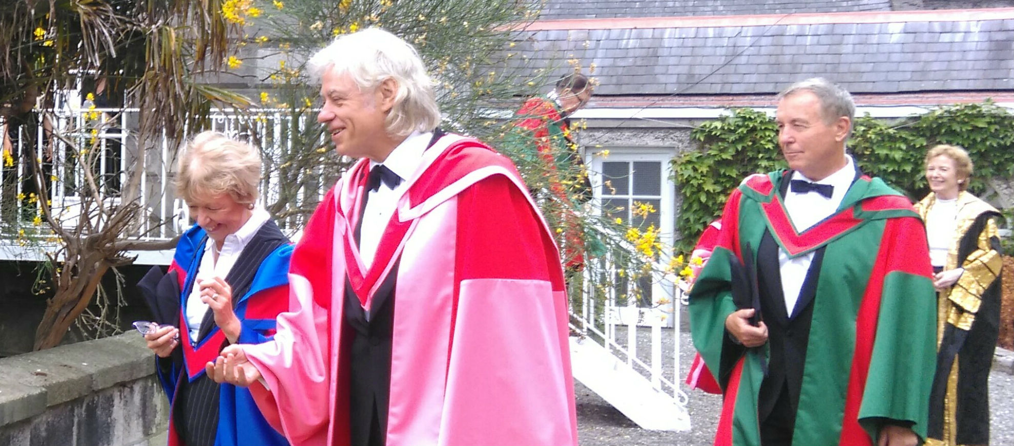 Geldof Picks Up Trinity Honour