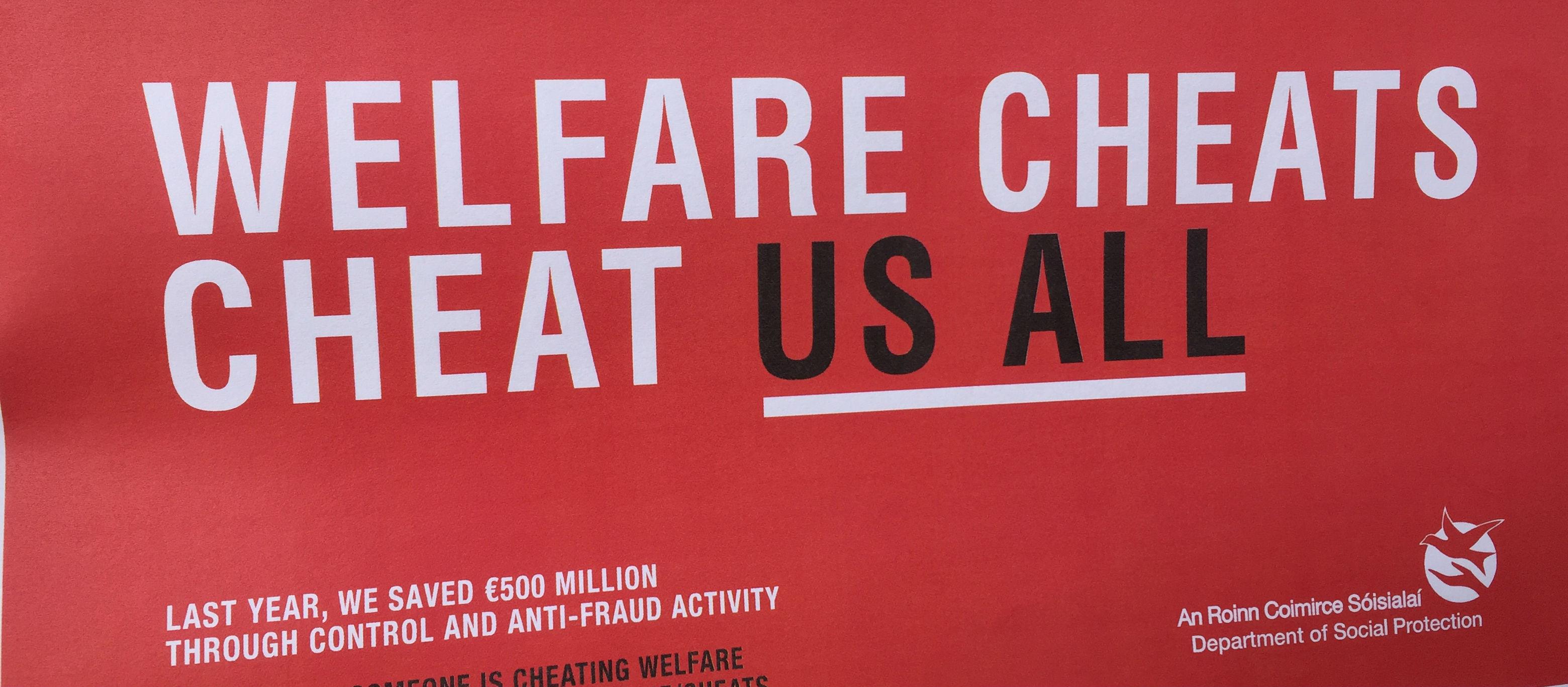 Row Back On Welfare Fraud Plans