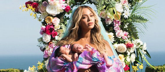 Beyonce Shares Snap Of Twins