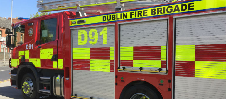 DFB tackle Kilternan Gorse Fire Overnight