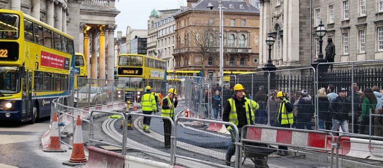 Luas Works Hit City Traffic