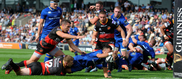 Five try Leinster tame the Dragons