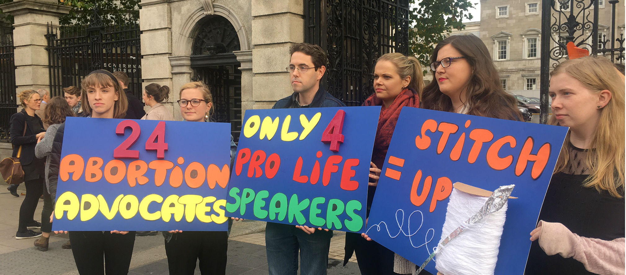 A Pro-Life Protest Takes Place In Dublin