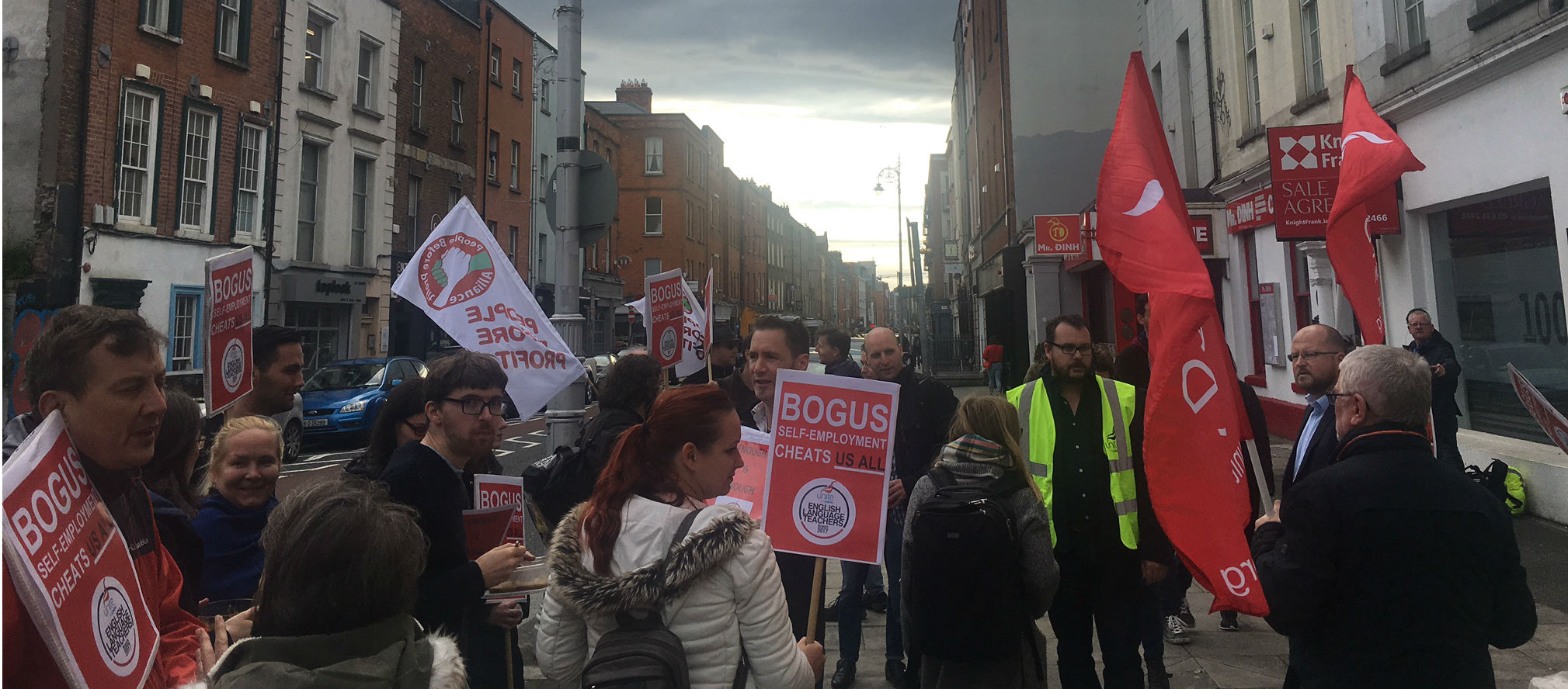 English Language Teachers Protest In Dublin