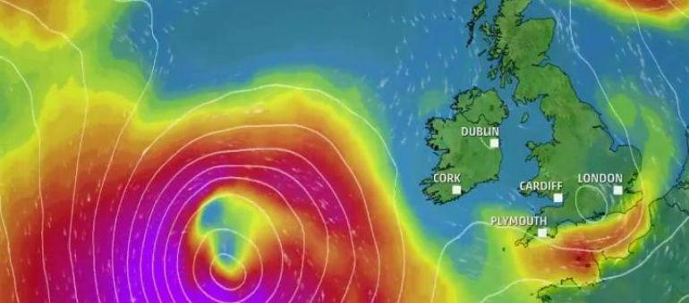Storm Brian Hits Dublin