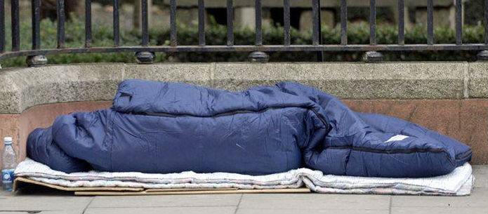 Homeless Crisis Escalates As Temperatures Plummet In The City
