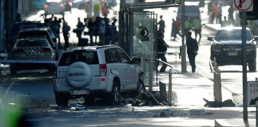 Car Hits Crowds In Melbourne