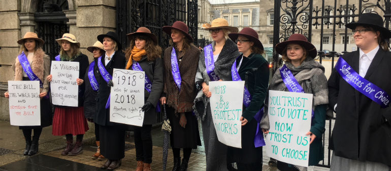 ROSA Campaigners Hold Demo Outside Dail