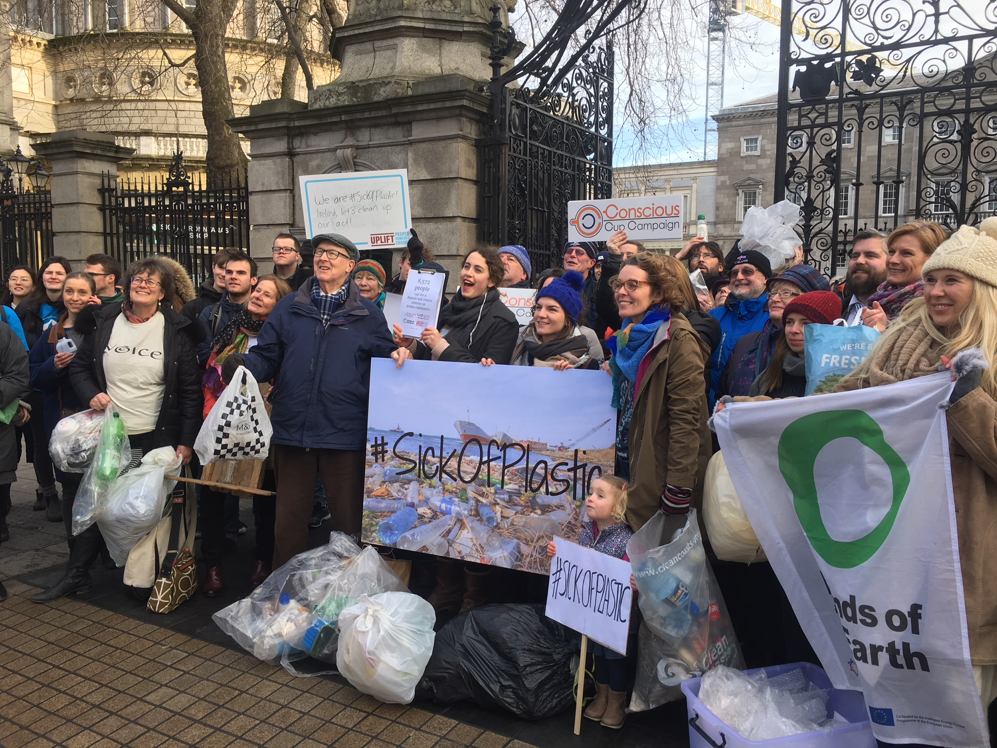 Plastic Protest at the Dáil
