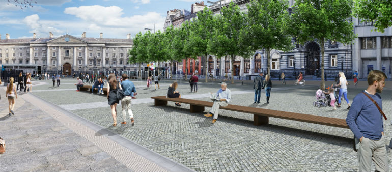 City Traders Split on College Green Plaza