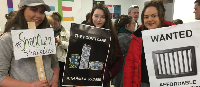 DCU Students hold sleep-out