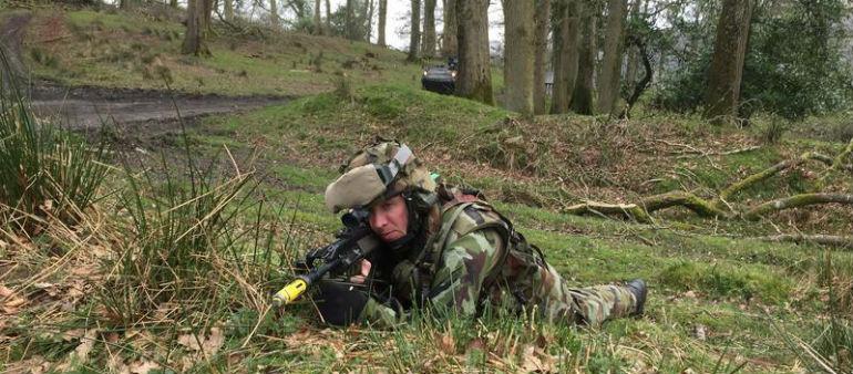 Irish troops undergo intensive training