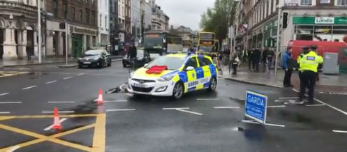 Garda car involved in city centre crash