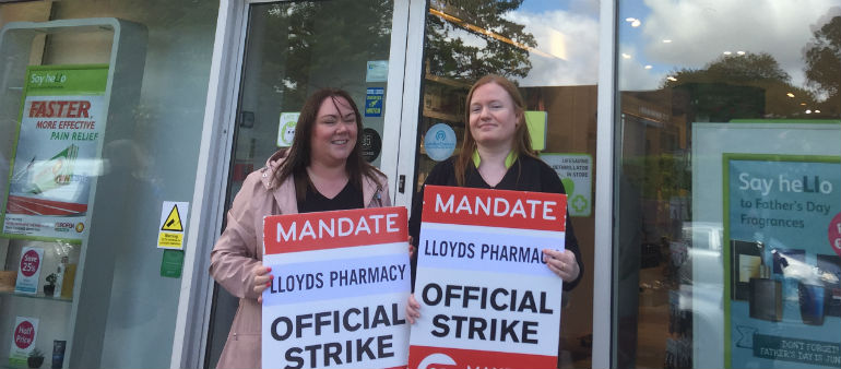 Pharmacy Staff Take To Picket Lines