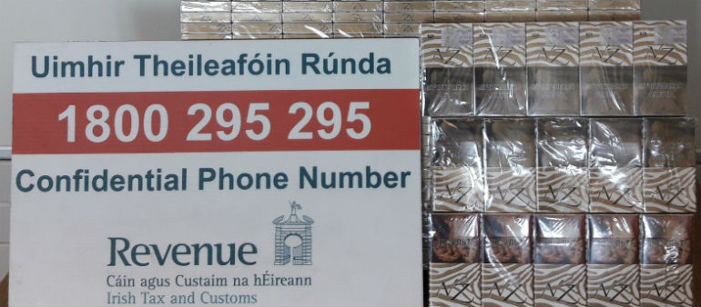 Contraband cigarettes seized in Dublin