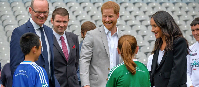 Prince Harry and Meghan Markle visit Croke Park