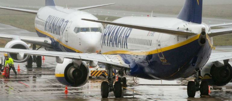 Ryanair Hits Out Over Strikes.