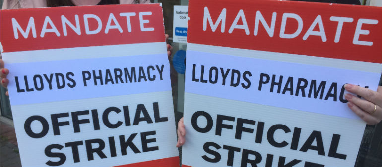 Eighth Day Of Strike Action For Lloyds Pharmacy Workers