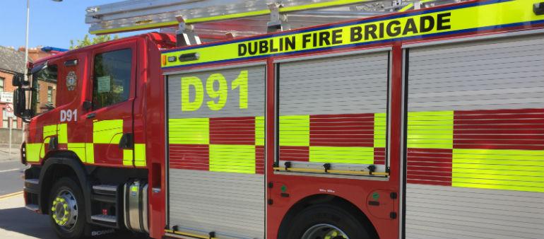 Firefighters Tackle Dublin Blaze
