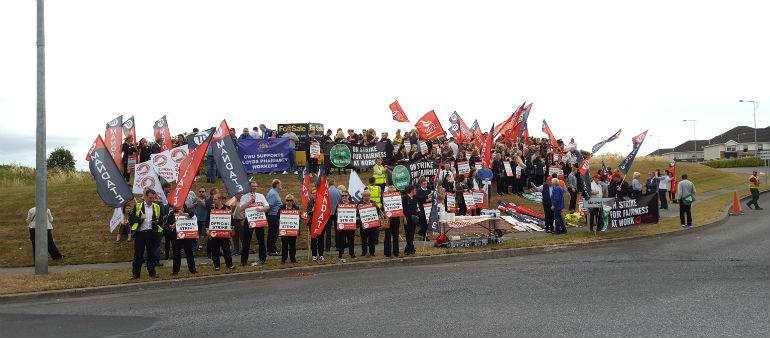 Day Nine Of Strike Action For Lloyds Pharmacy Staff