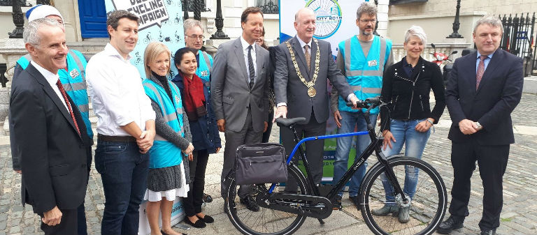 Lord Mayor Given a New Bike