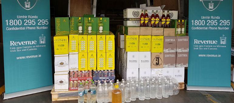 Illegal booze seized in Dublin 11