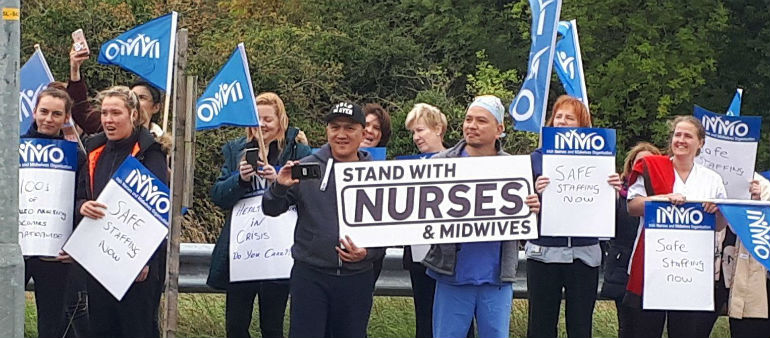 Nurses hold protest march at Connolly Hospital