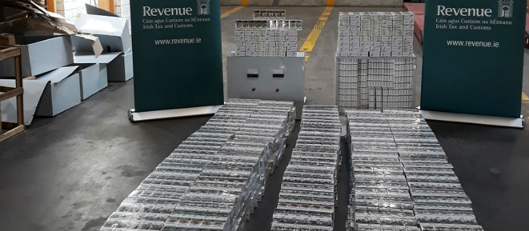 Cigarettes seizure at Dublin Port